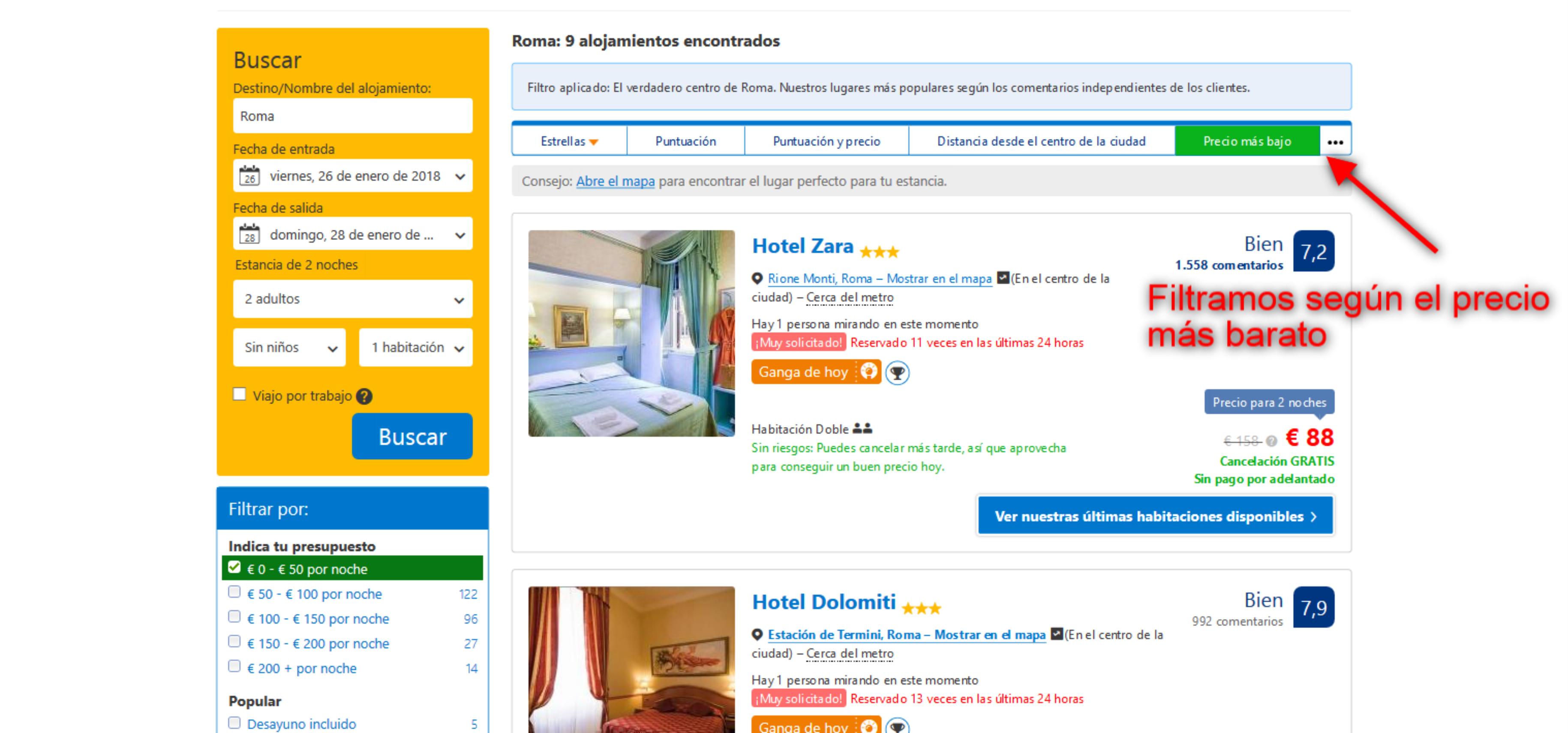 el buscador de hoteles